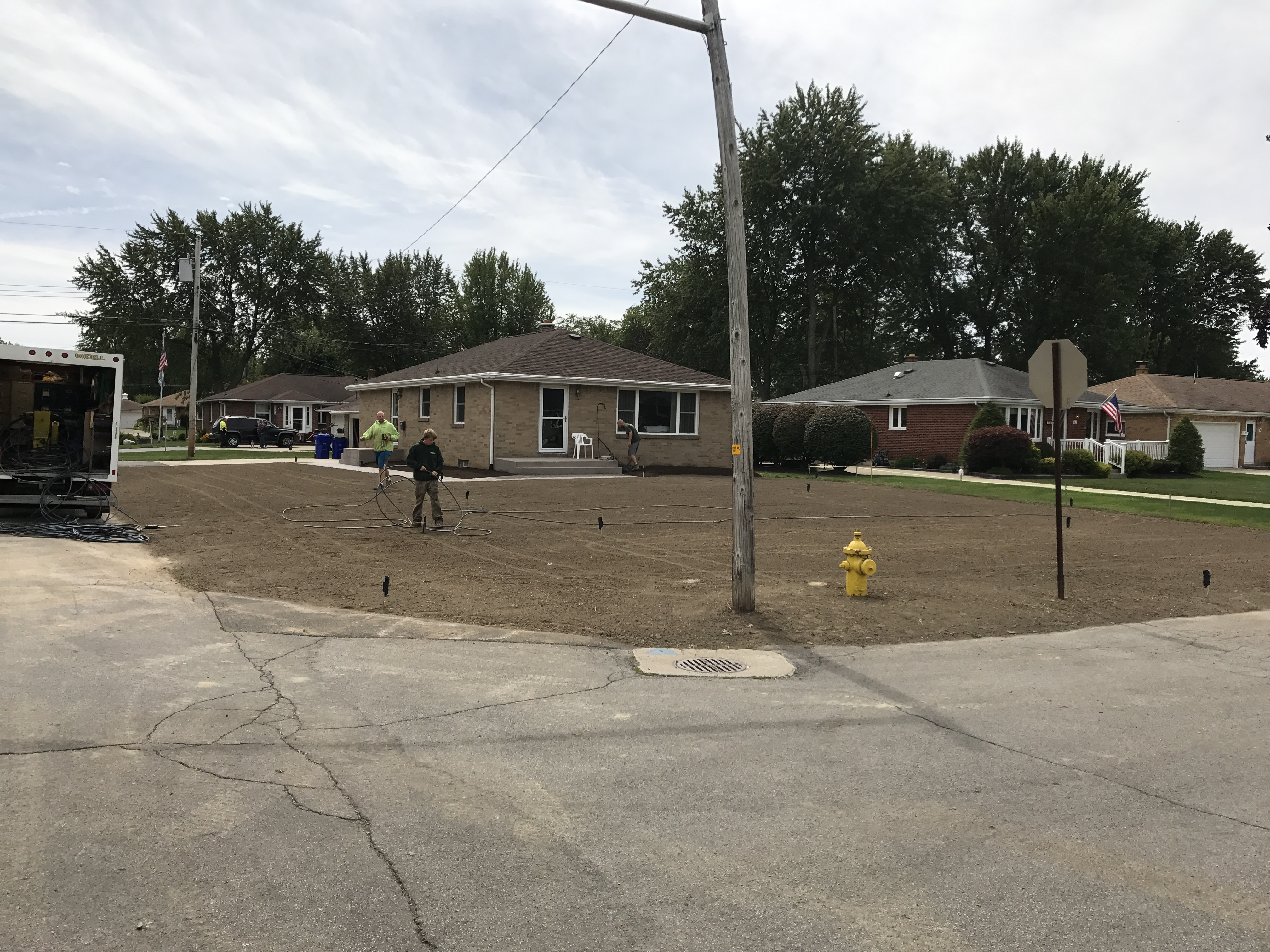 Front Yard Ready for Grass Seed