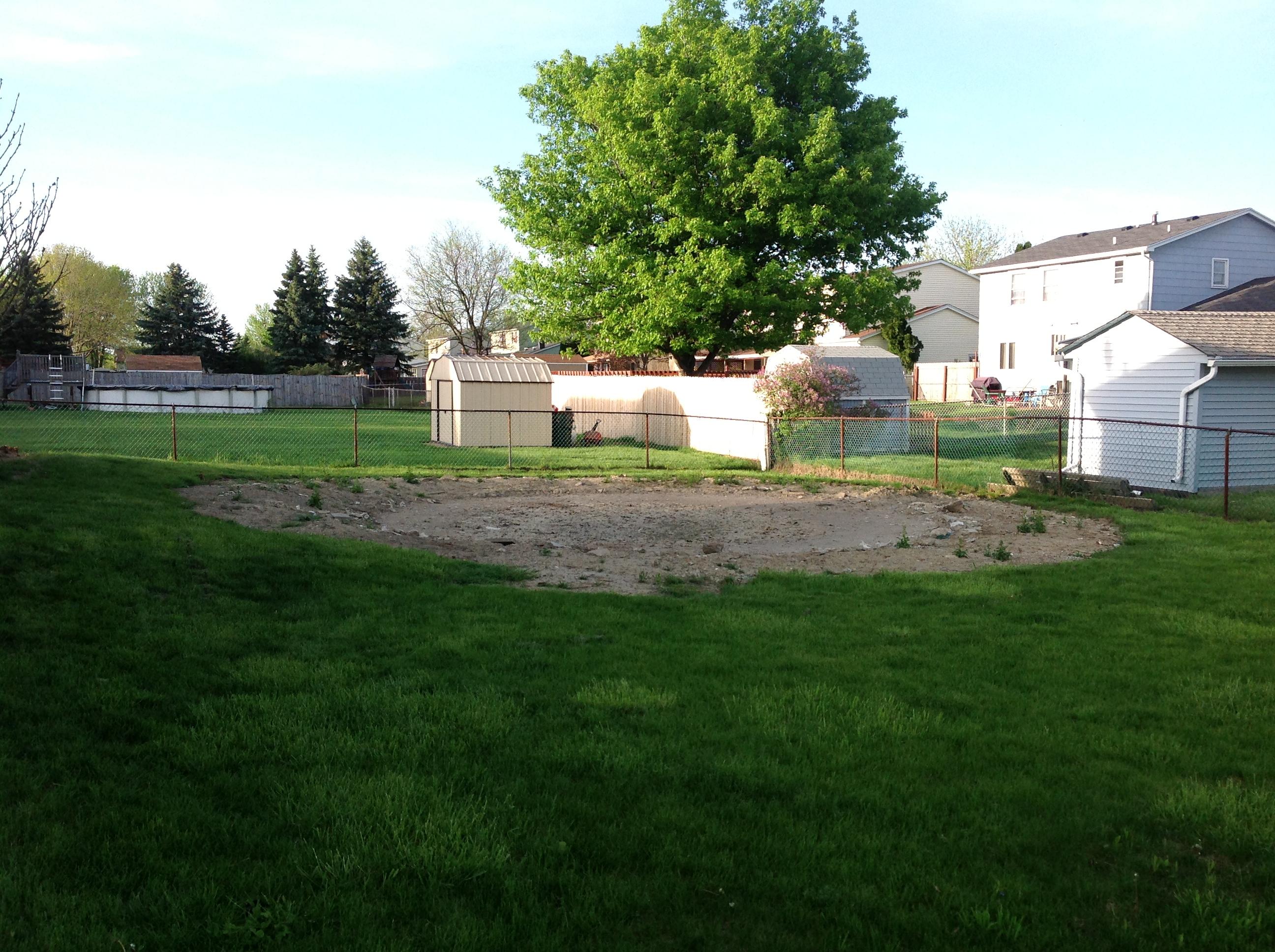Turf Repair in Backyard