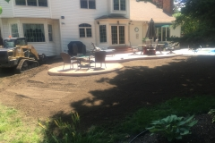 Rear Yard Graded After Patio Installation