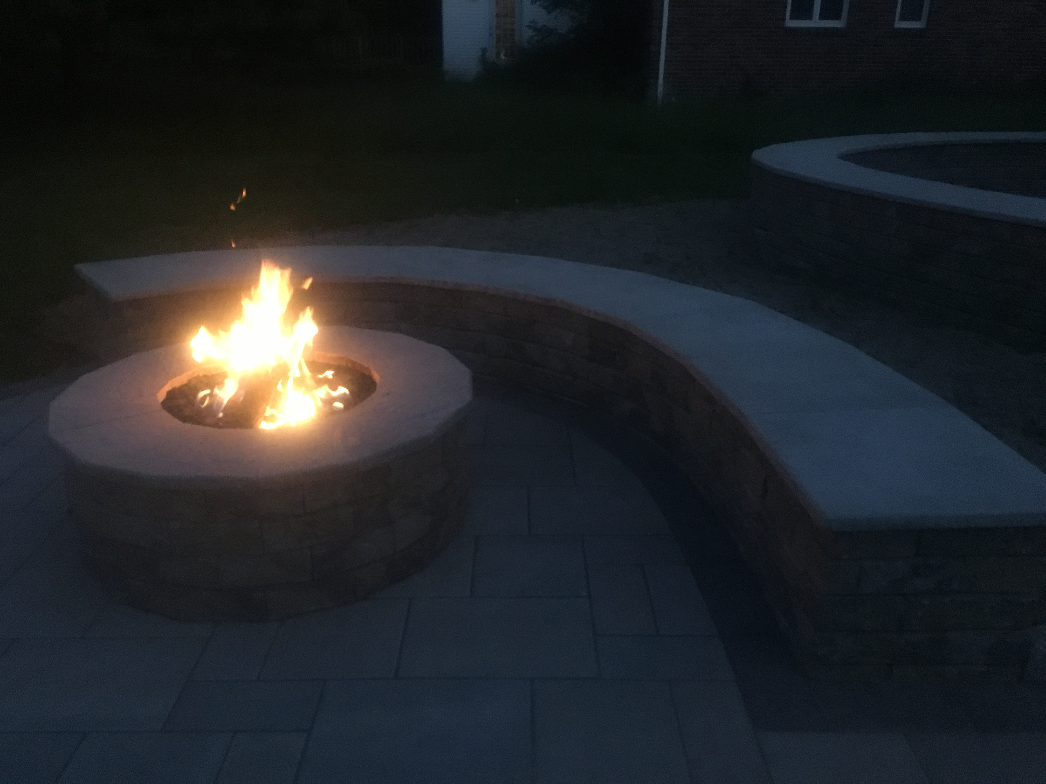 Fire Feature and Seat Wall