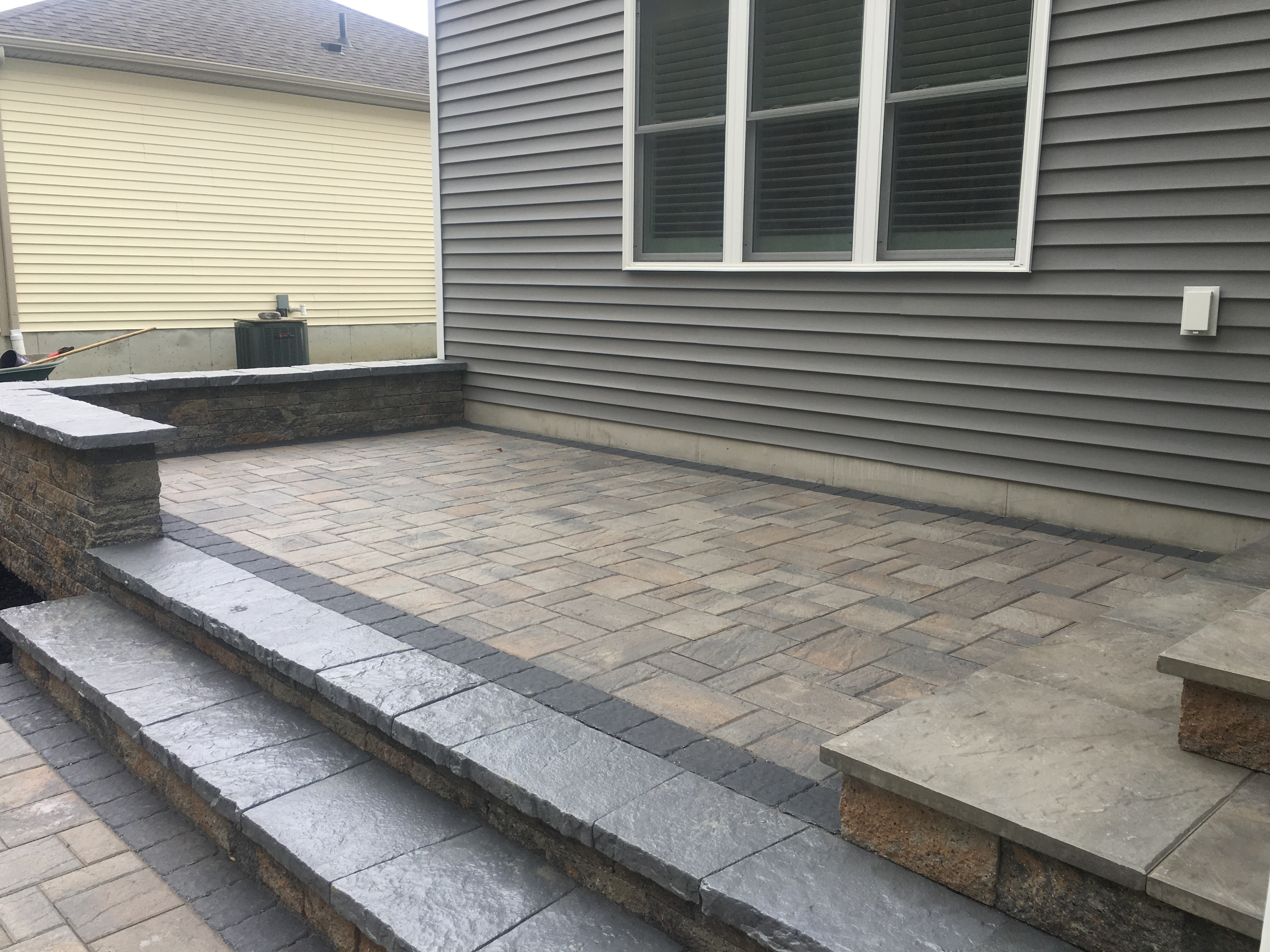 Rear Patio with Steps 1
