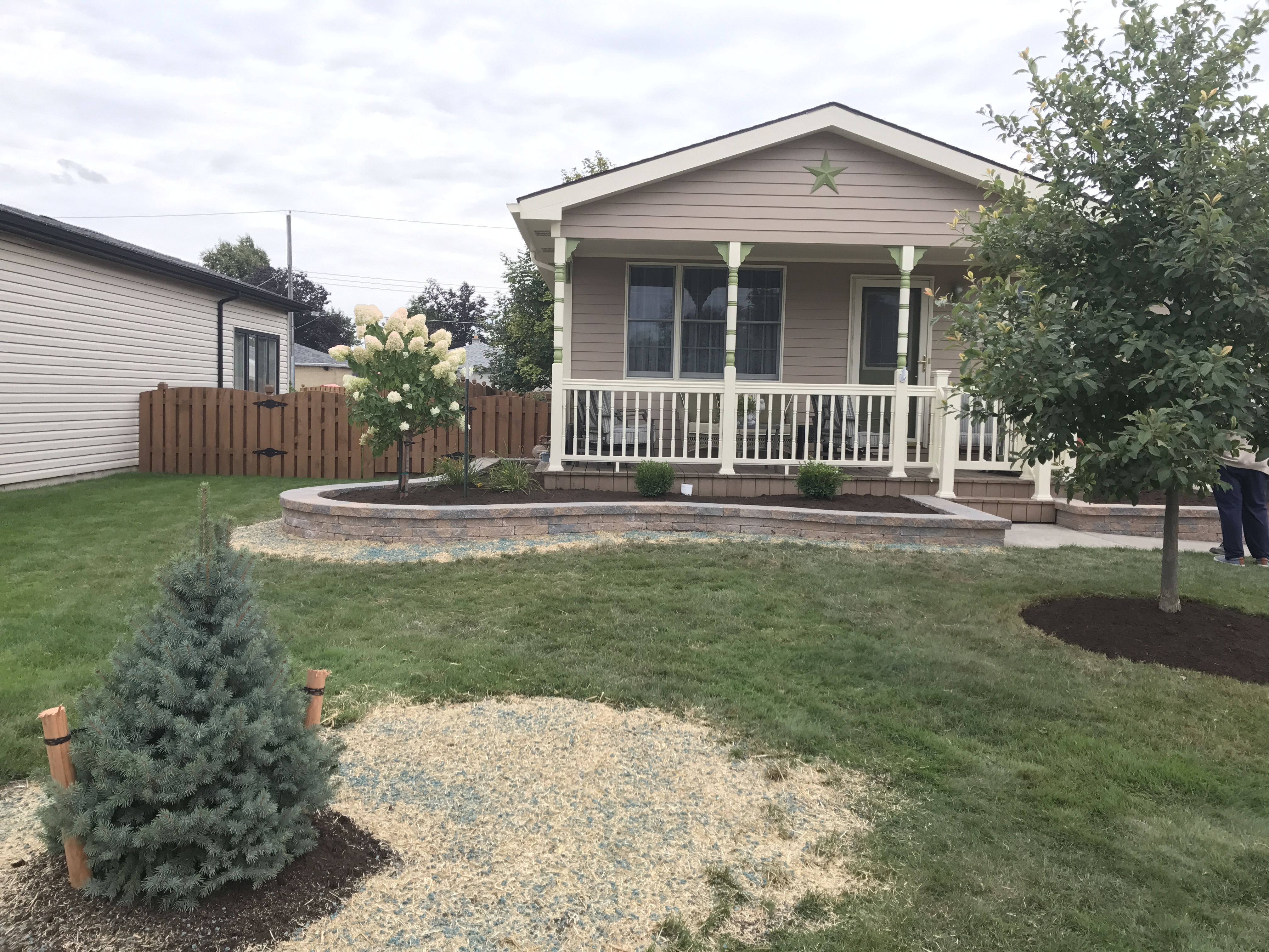 Front Foundation Landscape Wall