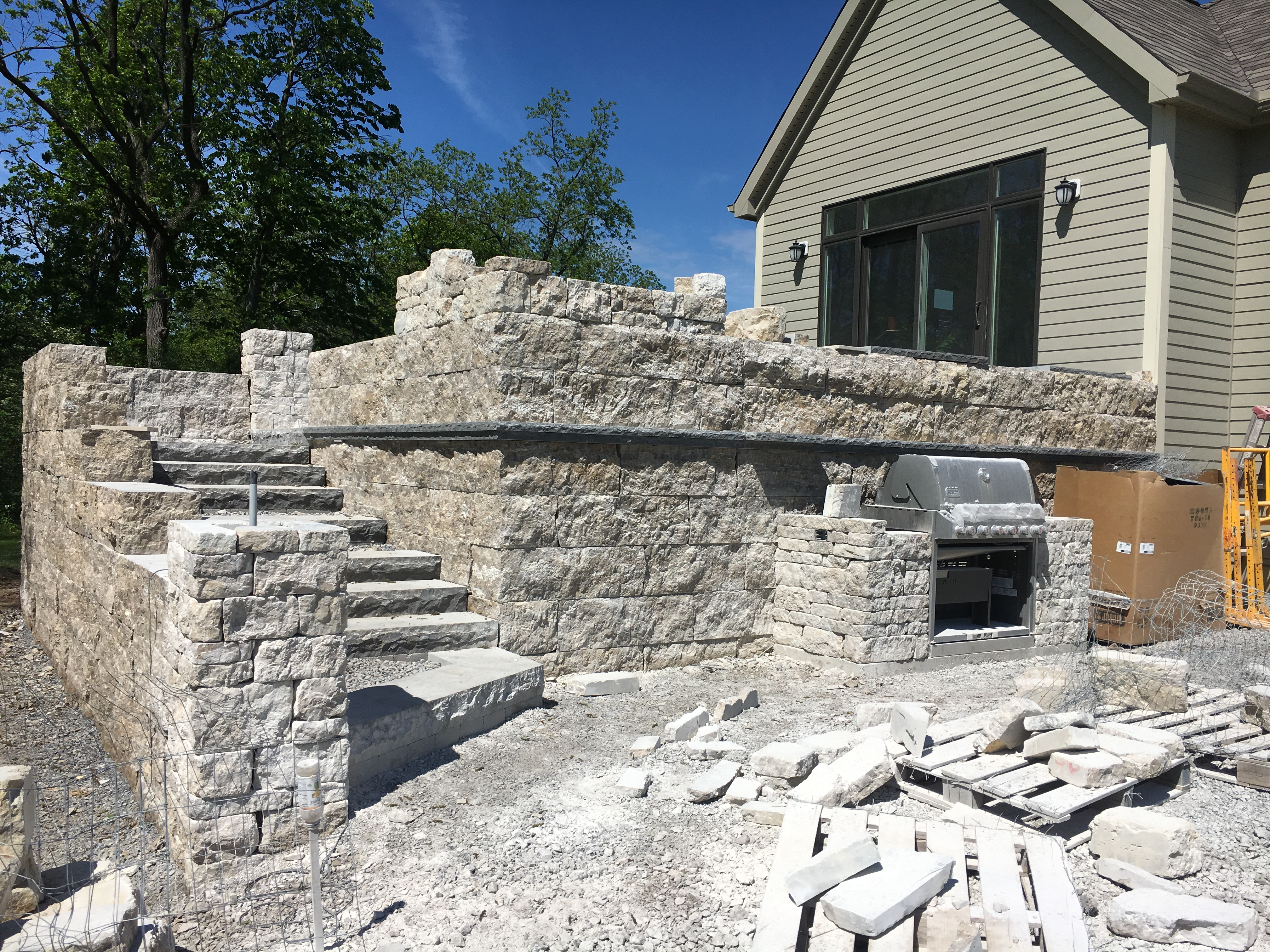 Hardscape Patio Wall Construction