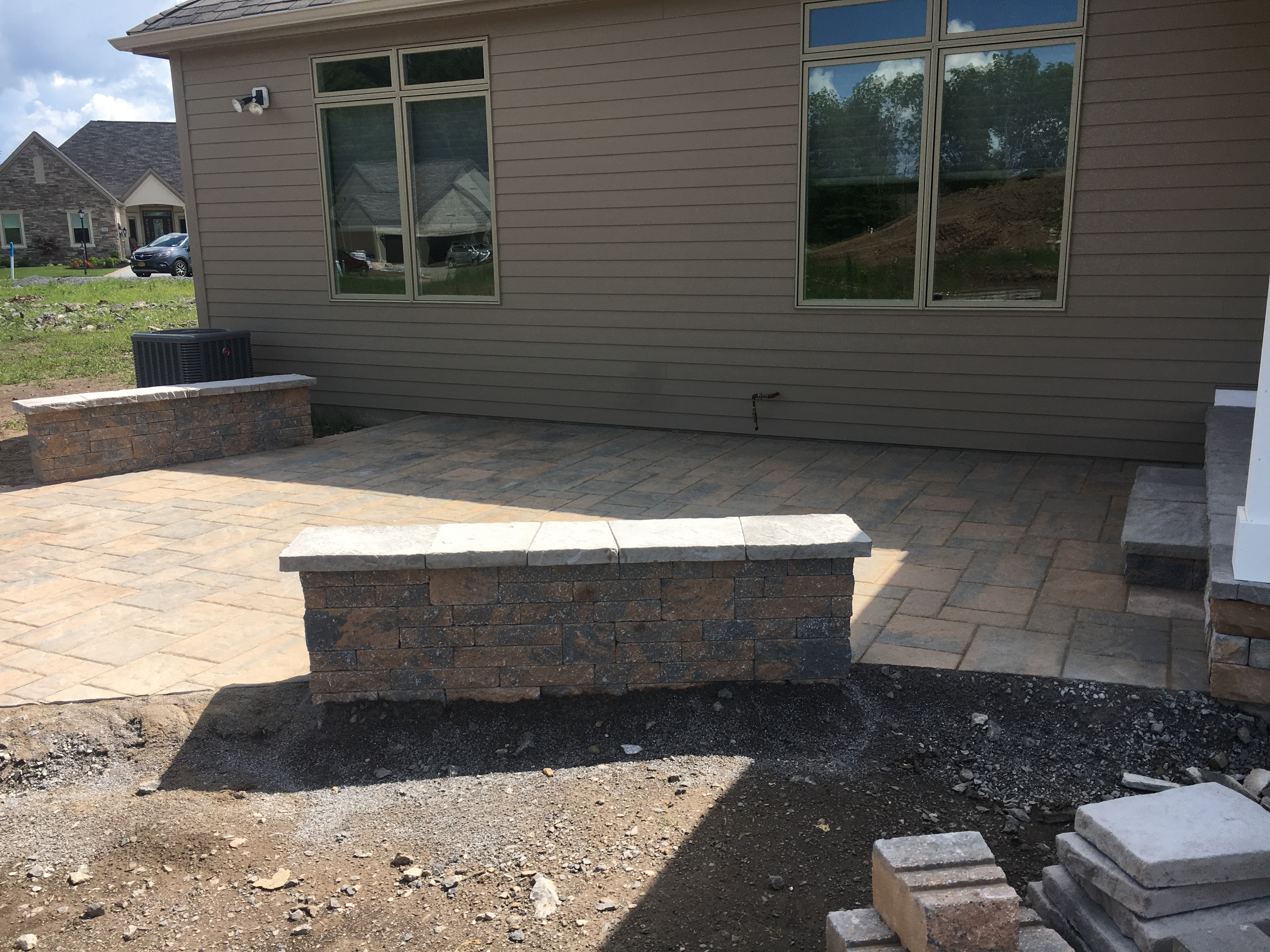 Rear Patio with Seat Wall