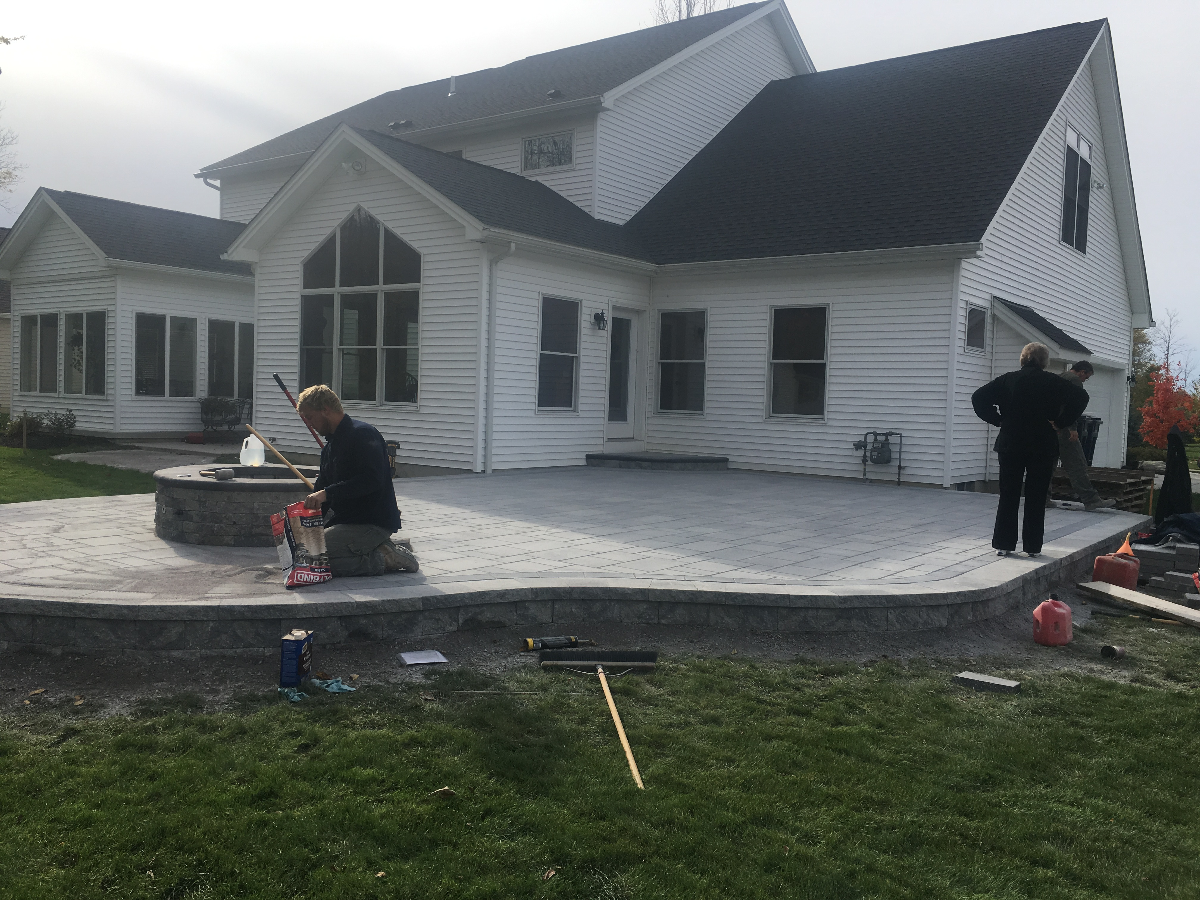 Patio Installation Finishing Touches