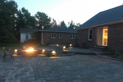 Rear Patio with Lighting