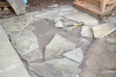 Flagstone Landing During Construction