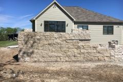 Patio Wall Construction