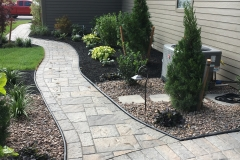 Side Yard Walk Hardscape and Landscape Beds