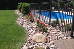 Pool & Fence Landscape