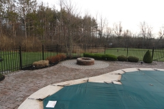 West Seneca Fire Pit Patio Before